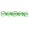 Fire Polished 6mm Transparent Peridot/Light Green Lined